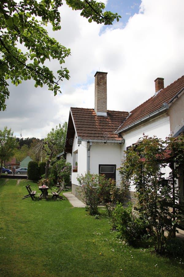 庭院和房子 免版税库存图片