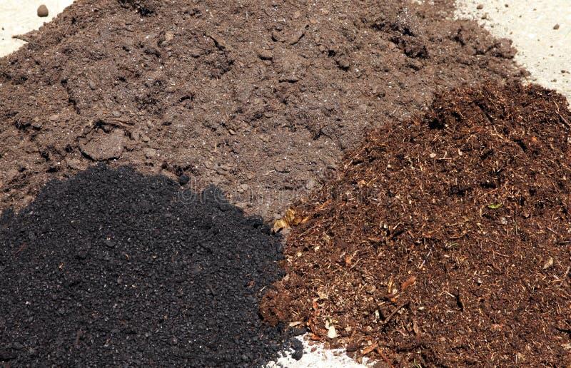 庭院土壤类型 免版税图库摄影