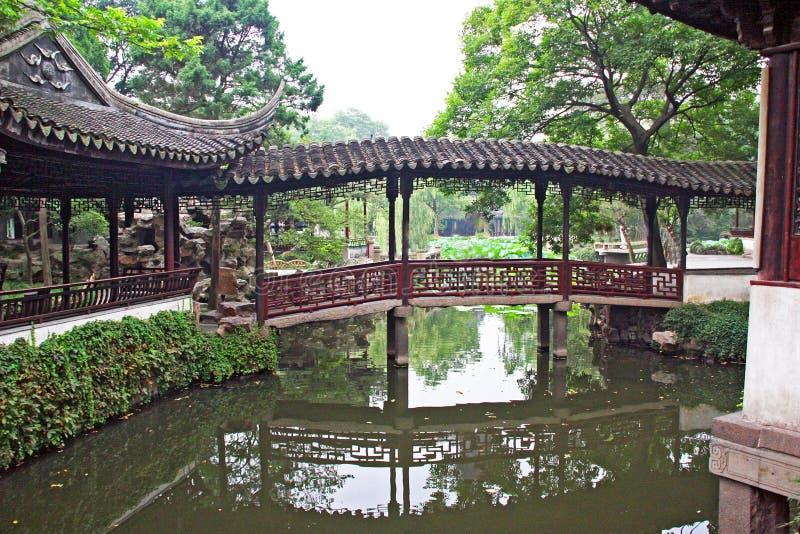 庭院在上海,中国附近的苏州 免版税库存照片