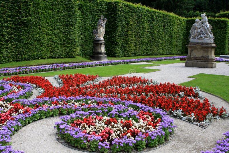 庭院在Linderhof宫殿,德国 库存图片
