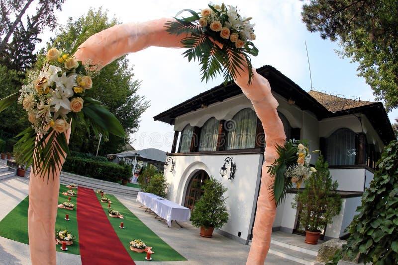 庭院婚礼 库存图片