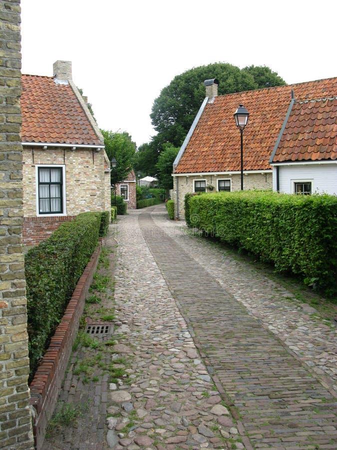 庭院家缩小的街道 免版税库存图片