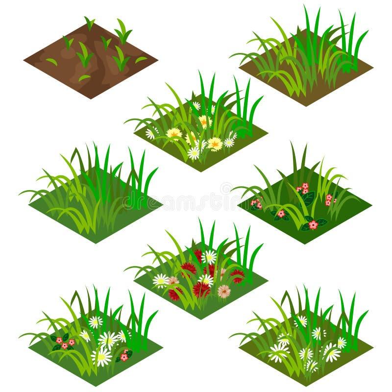 庭院或农厂等量瓦片集合 皇族释放例证