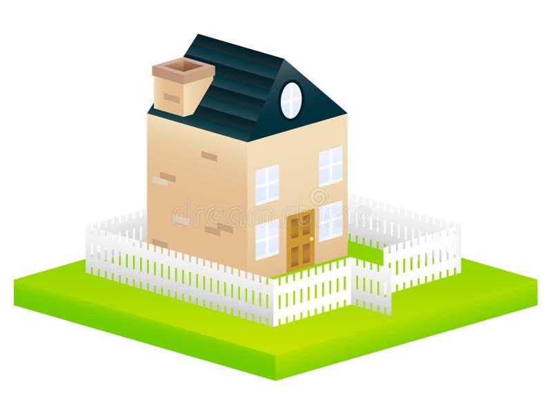 庭院房子图标 向量例证