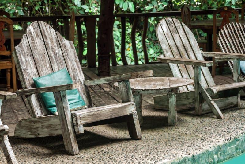 庭院扶手椅子 库存图片