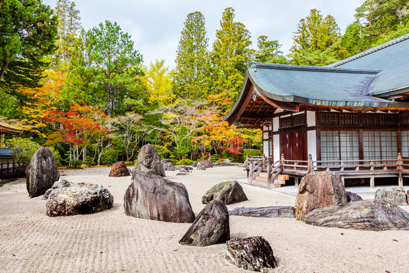 庭院日本人岩石 免版税库存照片