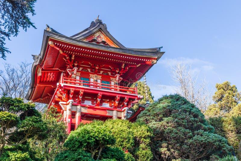 庭院日本人茶 免版税库存图片