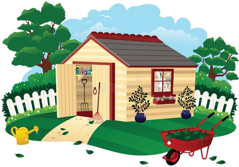 庭院棚子 向量例证