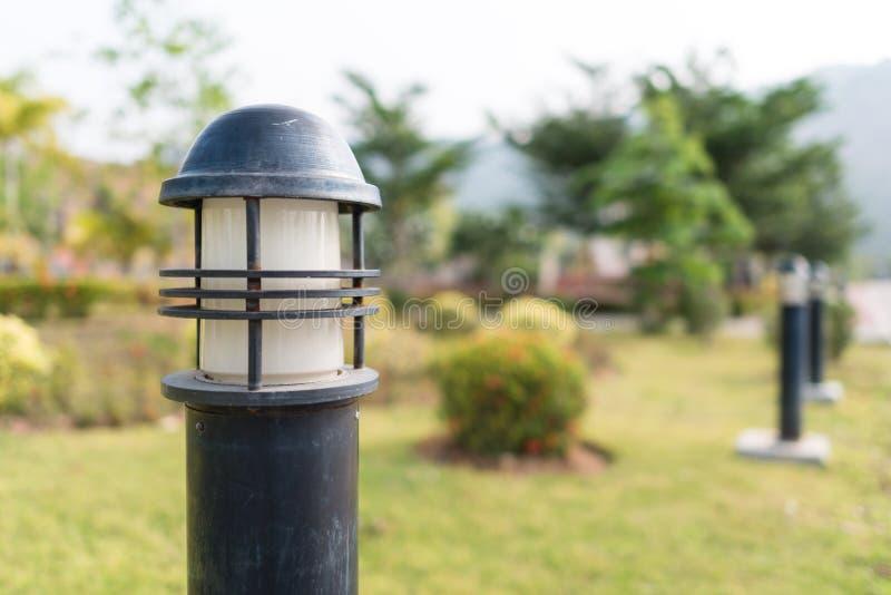 庭院照明设备 库存照片