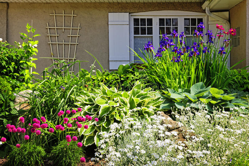 庭院环境美化住宅 免版税库存照片