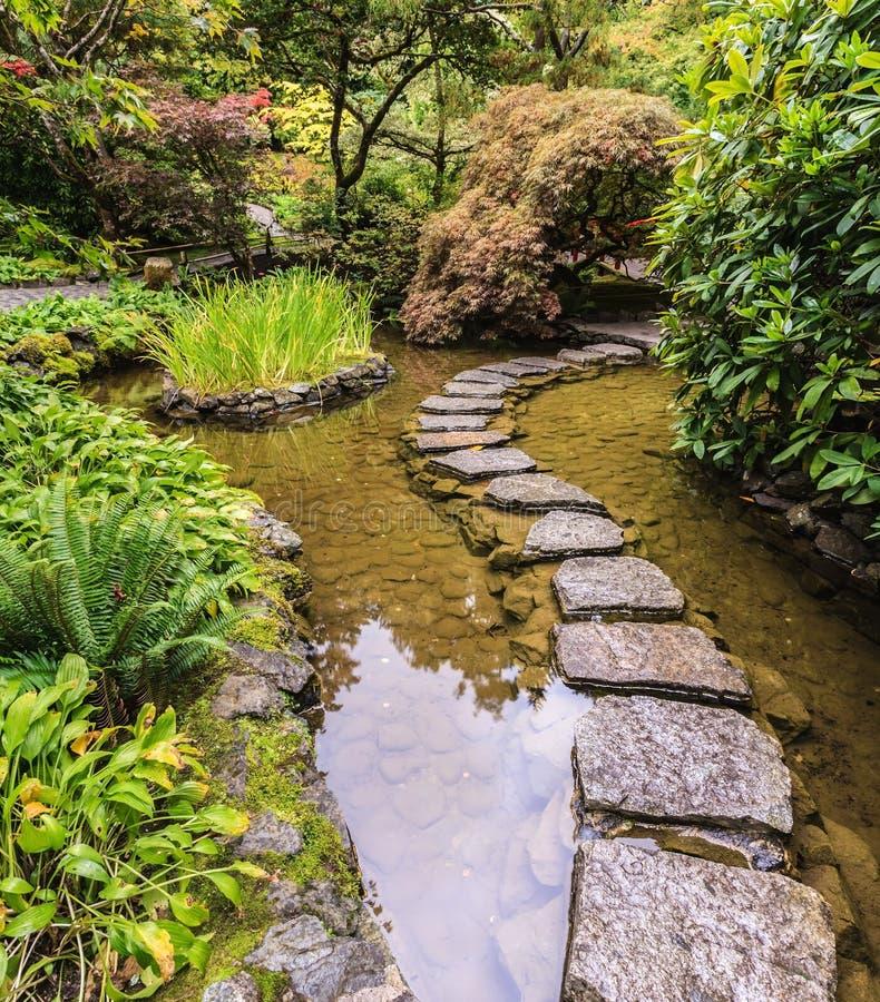 庭院的美好的日本部分 库存照片