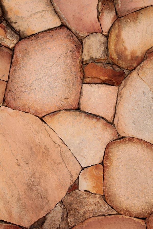 庭院的自然装饰石头 免版税库存照片