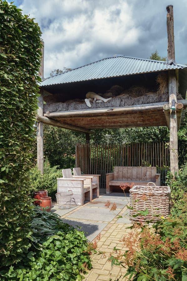庭院的建筑形式 免版税库存图片