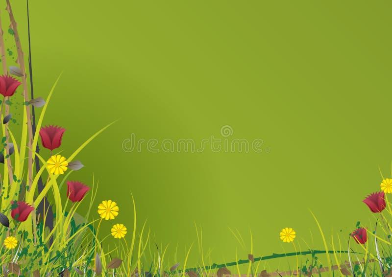 庭院绿色向量 免版税库存图片