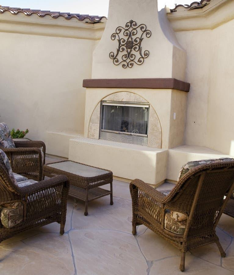 庭院舒适家具露台 库存照片