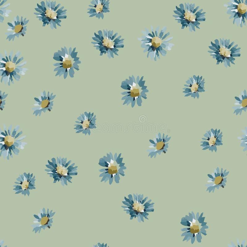 庭院花卉花无缝的背景样式 也corel凹道例证向量 10 eps 水彩花纹花样设计 向量例证