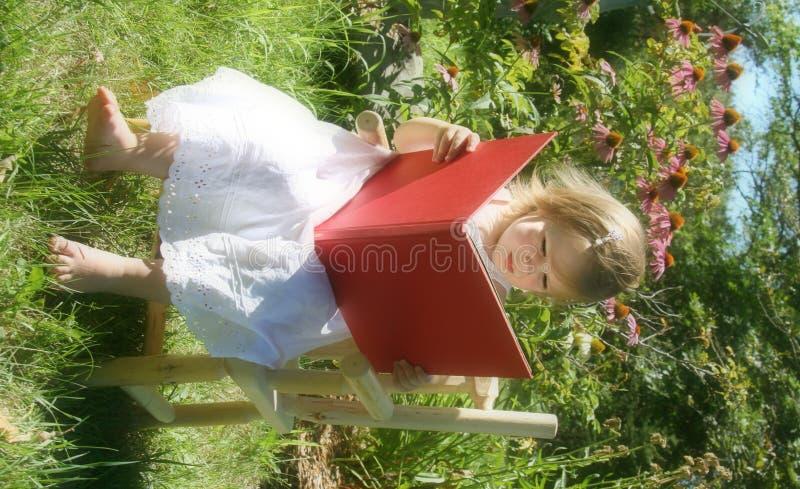 庭院读取 免版税库存图片