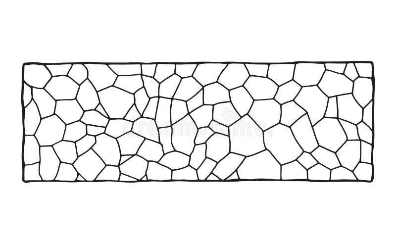 庭院路径 装饰石制品 传染媒介剪影 查出的对象 向量例证