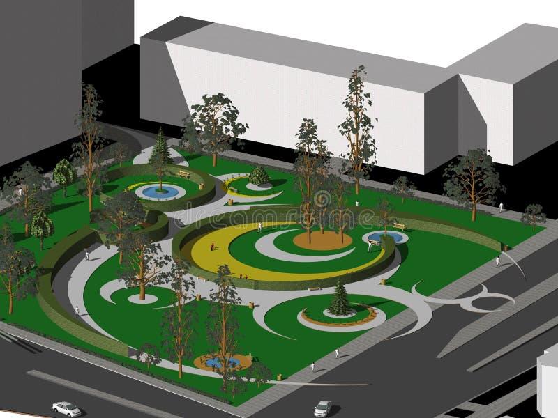 庭院项目 向量例证