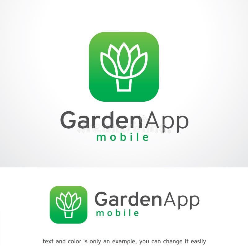 庭院App商标模板设计传染媒介,象征,设计观念,创造性的标志,象 库存例证
