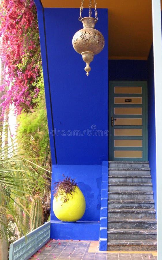 庭院majorelle摩洛哥 免版税库存照片