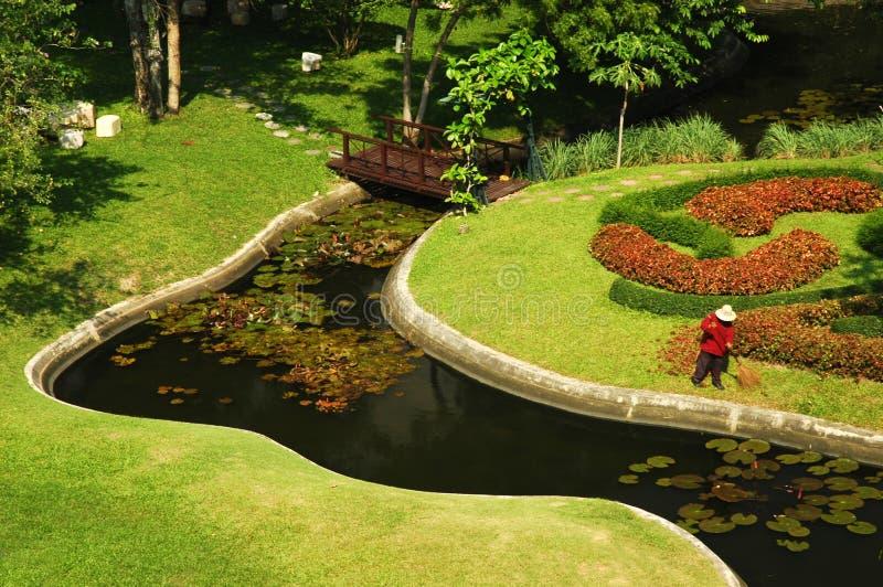 庭院pattaya 库存照片