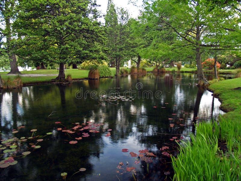 庭院queenstown 库存图片