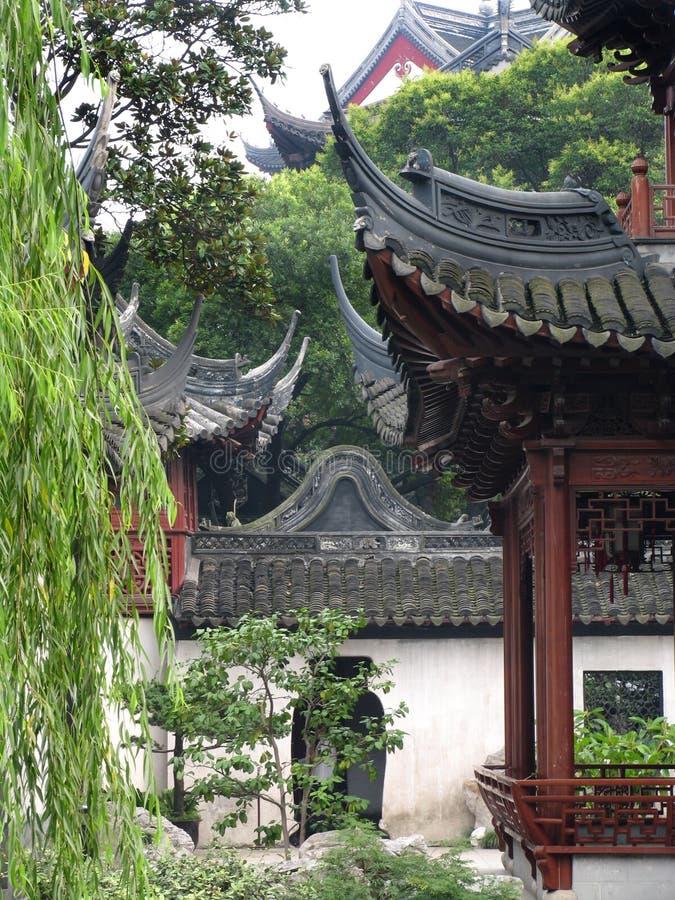 庭院yuyuan的上海 免版税库存照片