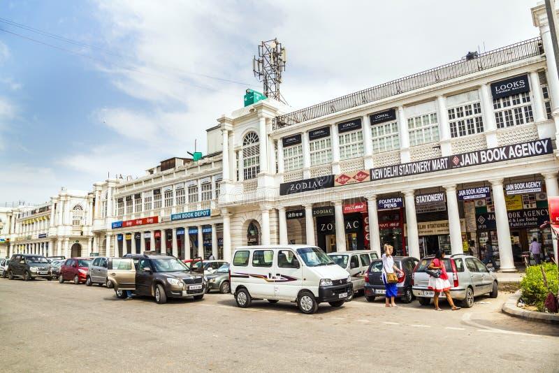 康乐广场是其中一个最大的商业地方在印度 图库摄影