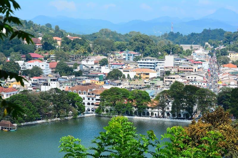 康提市,斯里兰卡全景  康提 库存图片
