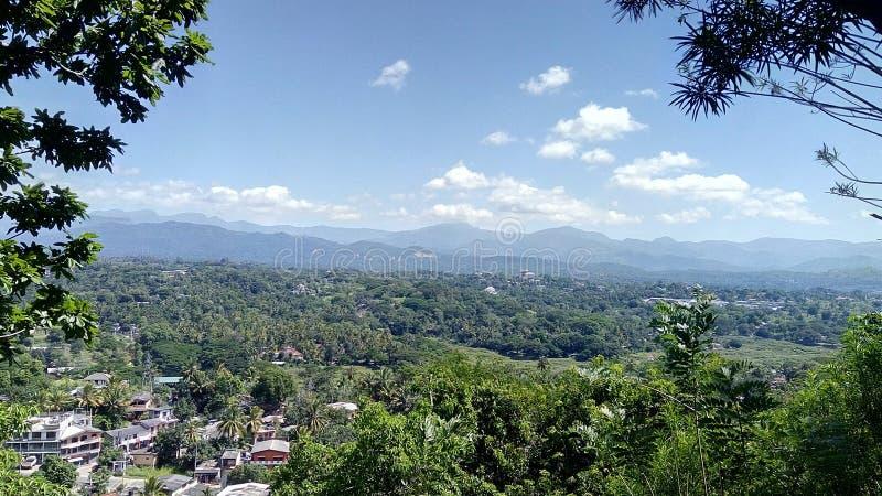 康提斯里兰卡美丽的山  免版税库存图片