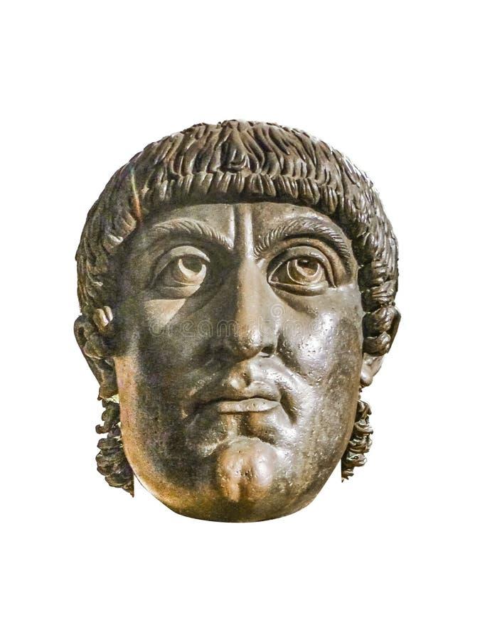 康斯坦丁头雕塑,罗马,意大利 免版税库存照片