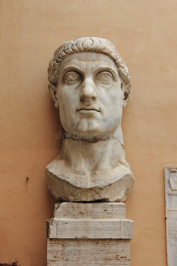 康斯坦丁巨人头  免版税库存图片