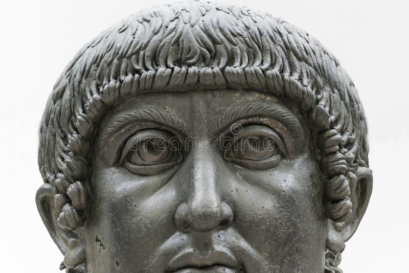 康斯坦丁巨人雕象伟大在罗马,意大利 免版税库存图片