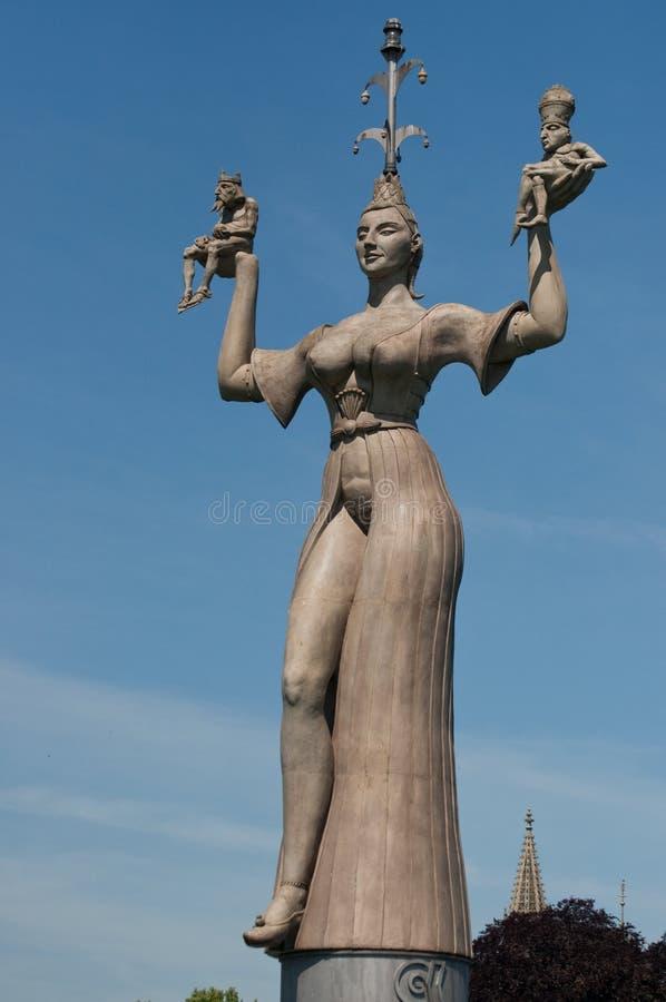 康斯坦茨,德国:统治权雕象 图库摄影
