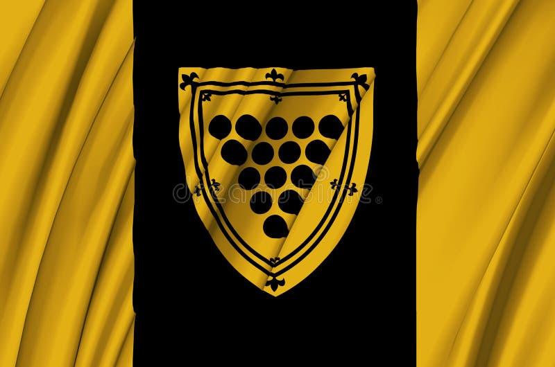 康沃尔郡安大略挥动的旗子例证 向量例证