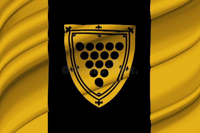 康沃尔郡安大略挥动的旗子例证 皇族释放例证