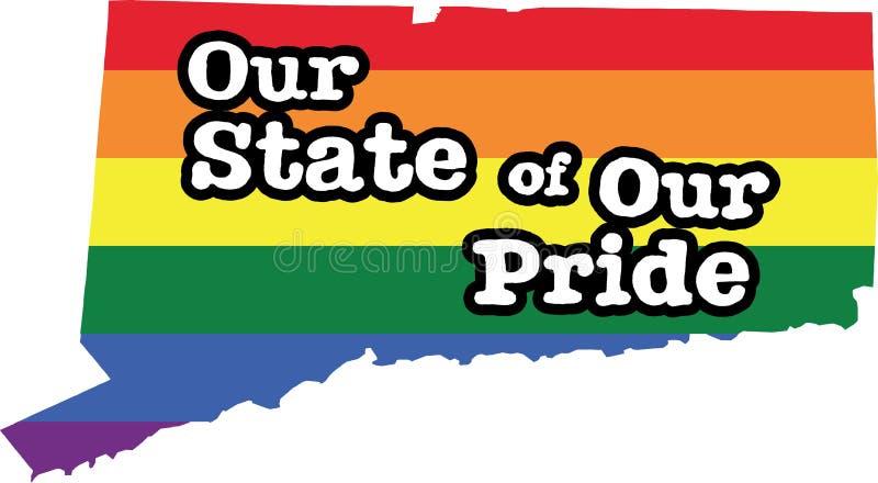康涅狄格同性恋自豪日传染媒介状态标志 皇族释放例证
