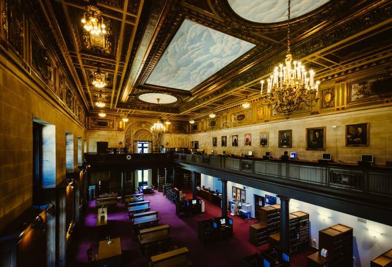 康涅狄格州立图书馆的内部,在哈特福德, Conn 库存照片