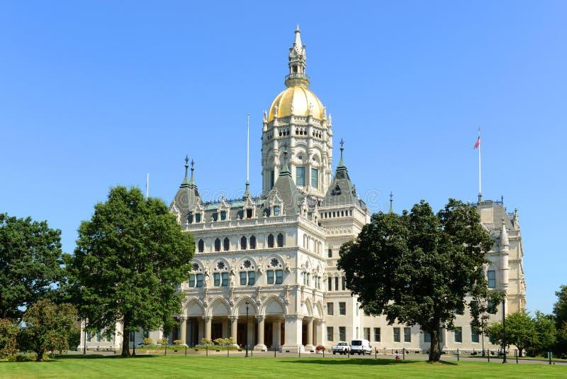 康涅狄格状态国会大厦,哈特福德, CT,美国 免版税库存照片