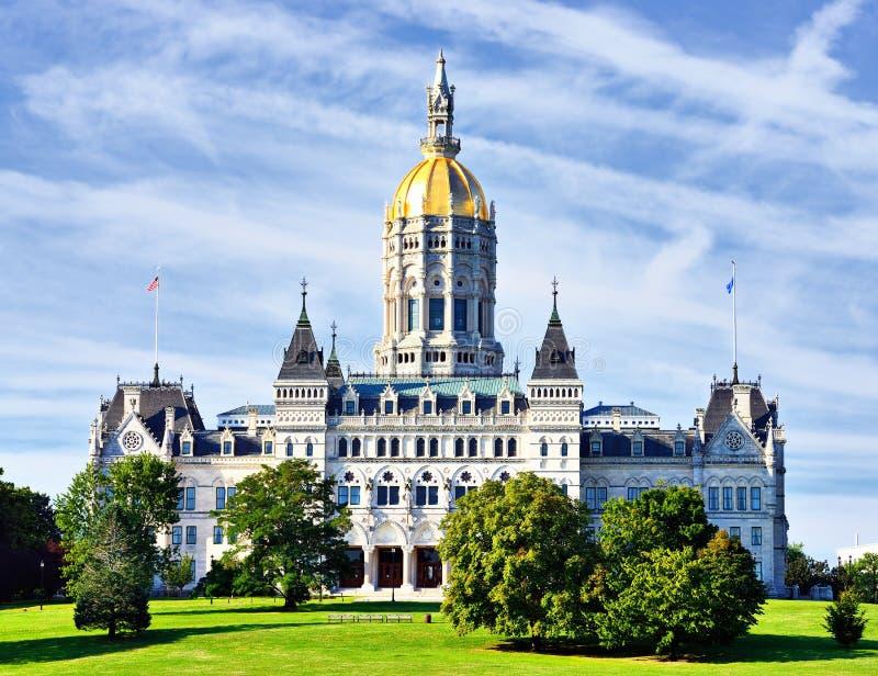 康涅狄格状态国会大厦 免版税库存图片
