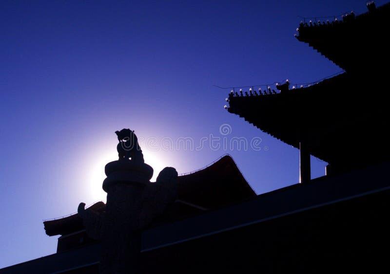 建立中国jing的古老bei老 库存图片