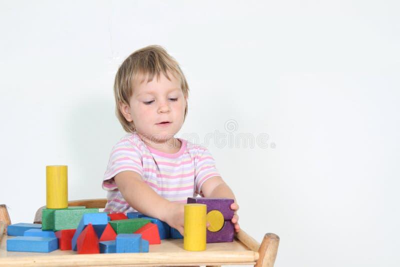 建立儿童使用的块 免版税库存照片