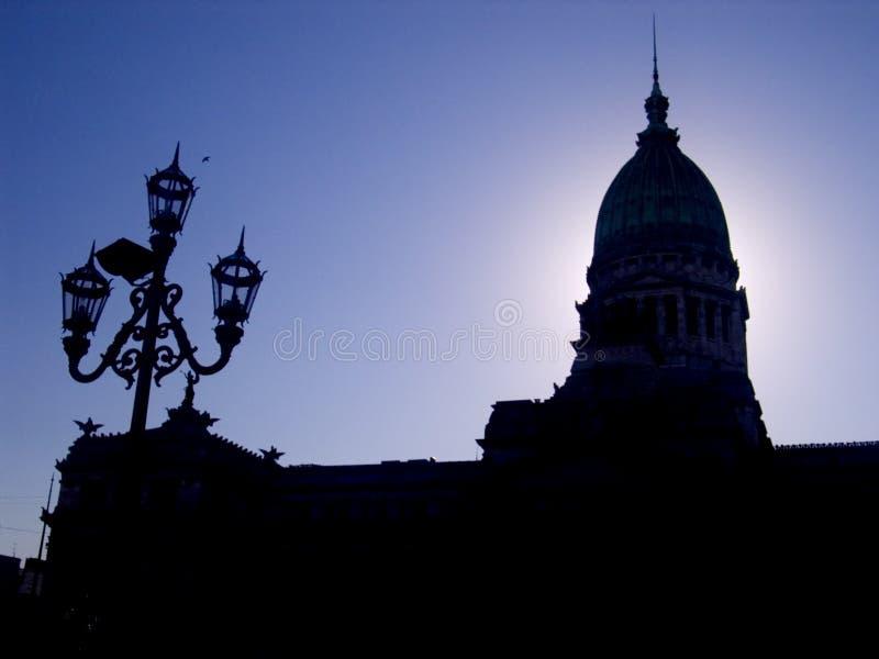 建立国会的aires buenos 库存图片