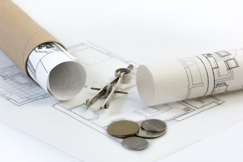 建筑业、房地产和物产投资项目 免版税库存照片