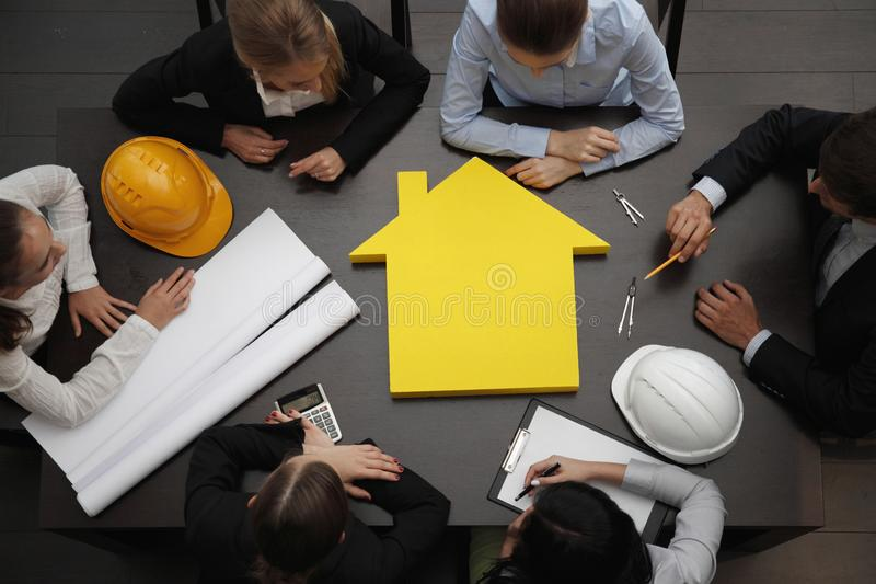 建筑业会议 库存图片