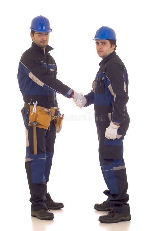 建筑信号交换二工作者 库存图片