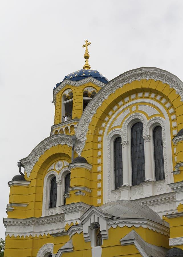 建筑元素圣弗拉基米尔大教堂sobor在基辅 库存图片