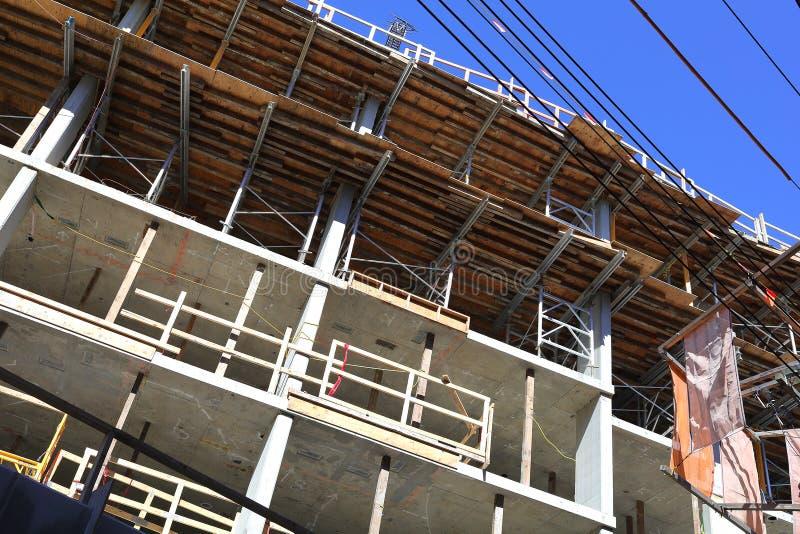 建筑区域起重机修造城市 免版税库存图片