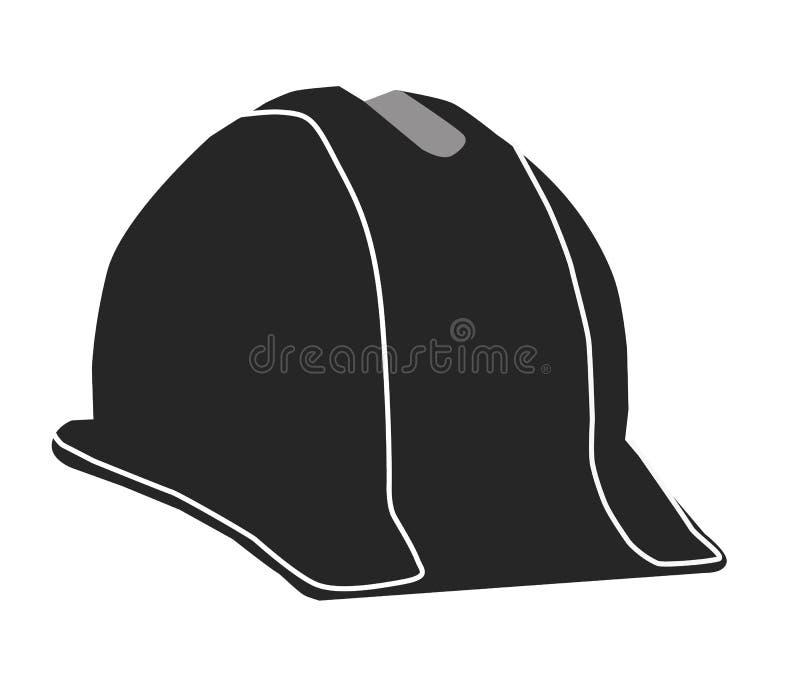 建筑在白色背景的安全帽象 bulider安全帽 库存例证